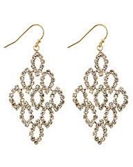 Mood Diamante Chandelier Earrings