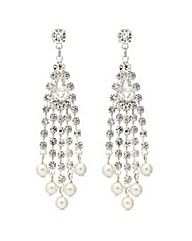 Mood Diamante Pearl Droplet Earrings