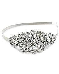 Mood Ornate Crystal Flower Side Headband