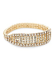 Mood Diamante Stretch Bracelet