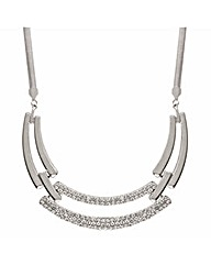 Mood Crystal Centre Link Collar Necklace
