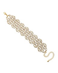Mood Diamante Wide Bracelet