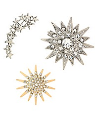 Mood Star Brooches Three Pack