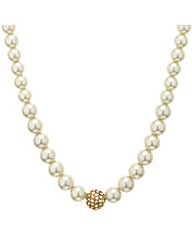 Mood Pearl And Crystal Ball Necklace