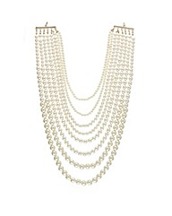 Mood Eight Row Graduating Pearl Necklace