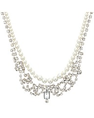 Mood Pearl And Diamante Necklace