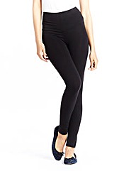 High Waisted Plain Leggings Short Length