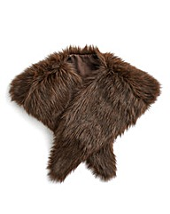 Joanna Hope Faux Fur Stole