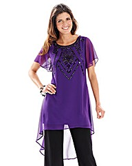 Petite Joanna Hope Jet Jewel Trim Tunic
