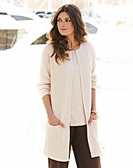 JOANNA HOPE Metallic Knitted Cardigan