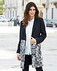 JOANNA HOPE Contrast Longline Jacket