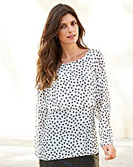 JOANNA HOPE Spot Layered Chiffon Blouse