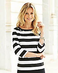 JOANNA HOPE Stripe Jersey Top