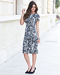 JOANNA HOPE Graphic Print Shift Dress