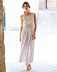JOANNA HOPE Maxi dress with jewel Trim