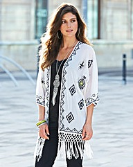 JOANNA HOPE Embroidered Kimono Jacket