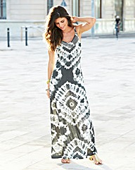 JOANNA HOPE Bead Trim Jersey Maxi Dress