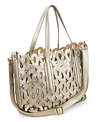 JOANNA HOPE Cutwork Detail Bag