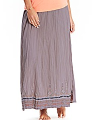 JOANNA HOPE Embroidered Maxi Skirt