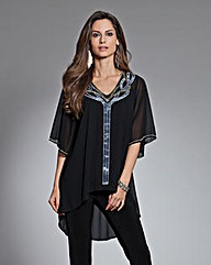 Together Bead and Velour Blouse
