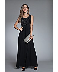 Together Bead Trim Maxi Dress