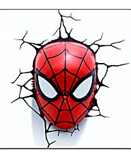 Spiderman Face 3D Deco Wall Light
