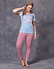 Pretty Secrets Leggings Pyjama Set