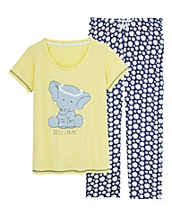 Pretty Secrets Elephant Print Pyjama Set