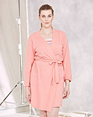 Pretty Secrets Cotton Wrap Gown