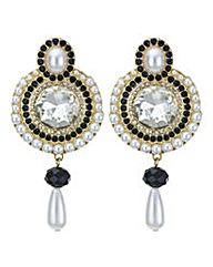 Mood pearl droplet disc earring