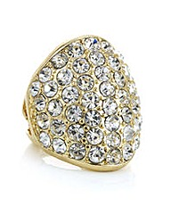 Mood Gold pave dome ring