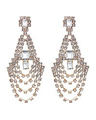 Mood diamante chandelier earring