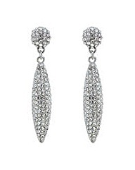 Mood Silver pave spike drop earring