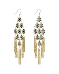 Mood Gold navette chandelier earring