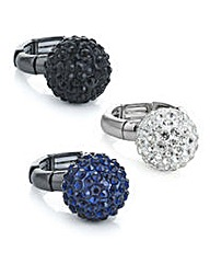 Mood Pave ball ring set