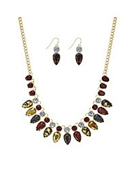 Mood Red tonal droplet jewellery set
