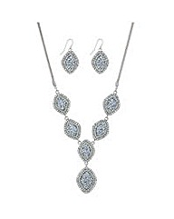 Mood Silver y necklace jewellery set