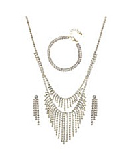 Mood Gold diamante jewellery set