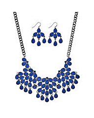 Mood Blue teardrop jewellery set