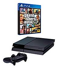 PS4 Console + Grand Theft Auto 5