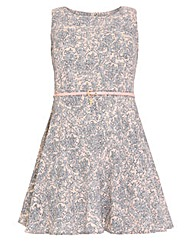 Samya Damask Print Skater Dress.