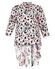Koko Floral Dipped Hem Shirt