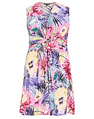 Samya Floral Front Knot Dress