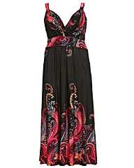 Samya Abstract Print Maxi Dress