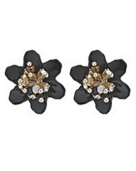Mood crystal 3d flower stud earring