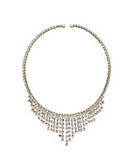 Mood Gold diamante choker necklace