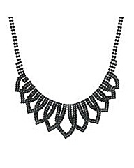 Mood Jet crystal loop necklace