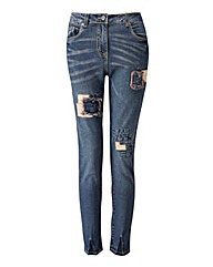 Joe Browns Rip & Repair Jeans Slim Leg