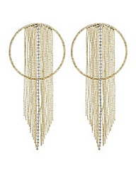 Mood Gold ring diamante shower earring