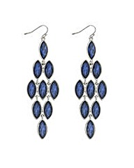 Mood Blue crystal chandelier earring